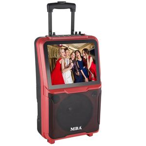High-quality multimedia speaker system mobile trolley portable speaker with handle and wheels