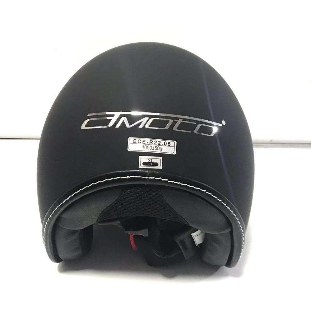 Ready to ship STOCK ABS Material black ECE Approved half face Motorcycle Helmet