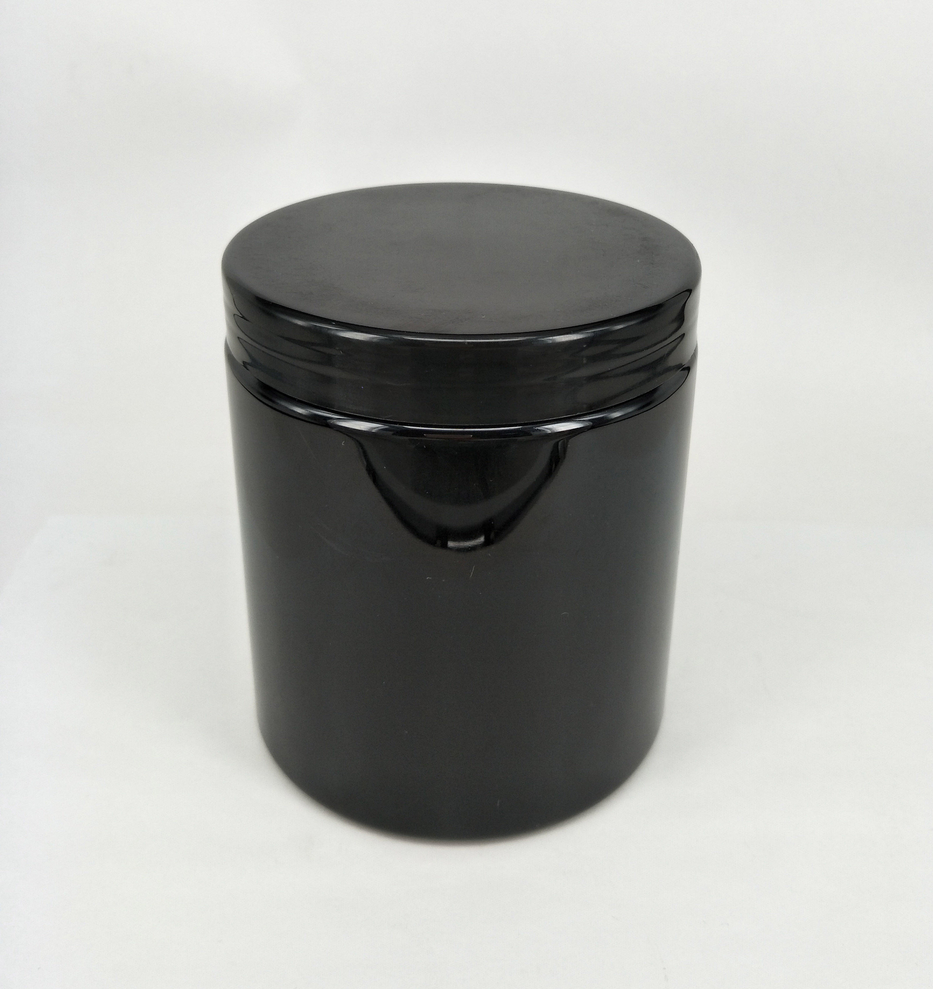 Black Matte Soft Touch or Shiny black PET Protein Powder Jar