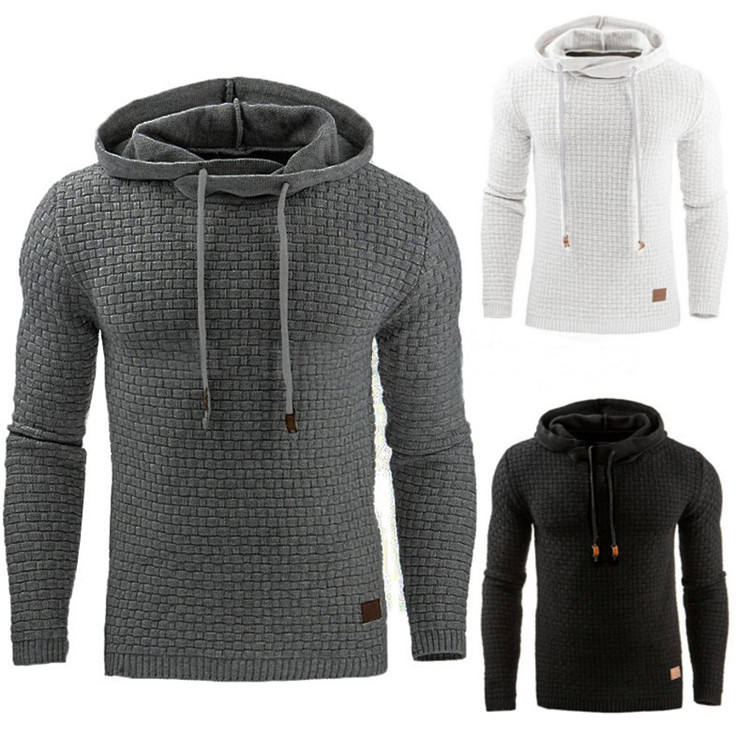 2020 Autumn and winter European men's jacquard sweatshirt clothes sportswear long sleeve hoodies jacket