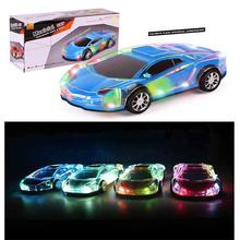 Auto Car Toy for Kids, Electronic Battery Operated LED Vehicle with Music Control Flashing for Children's Birthday Party Gift