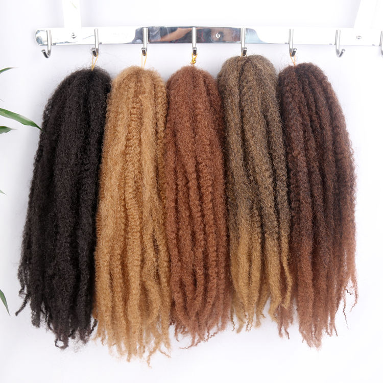 Fast Delivery Cuban Cheap Extension Freetress Long Synthetic Curl Curly Crochet Afro Kinky Marley Twists Braiding Hair