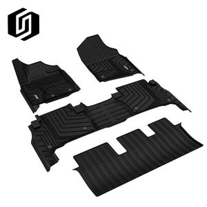 Bulk sale durable all weather waterproof 4 pcs black rubber TPE Car floor mats for TOYOTA LAND CRUISER 2010 //