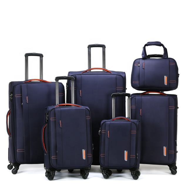 6 pieces travel trolley luggage suitcase set travel bags Trolley bag Luggage with hand bag