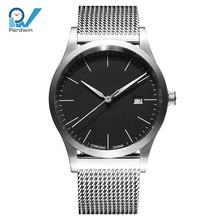 Custom watch manufacturer SWISS movement minimalistic automatic watches men wrist