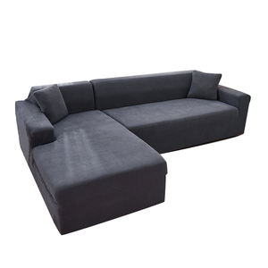 Wholesale Customized 1 2 3 4 Seater Full Size Solid Corner Couch Cover High Elastic Stretch Universal Spandex Sofa Cover Set