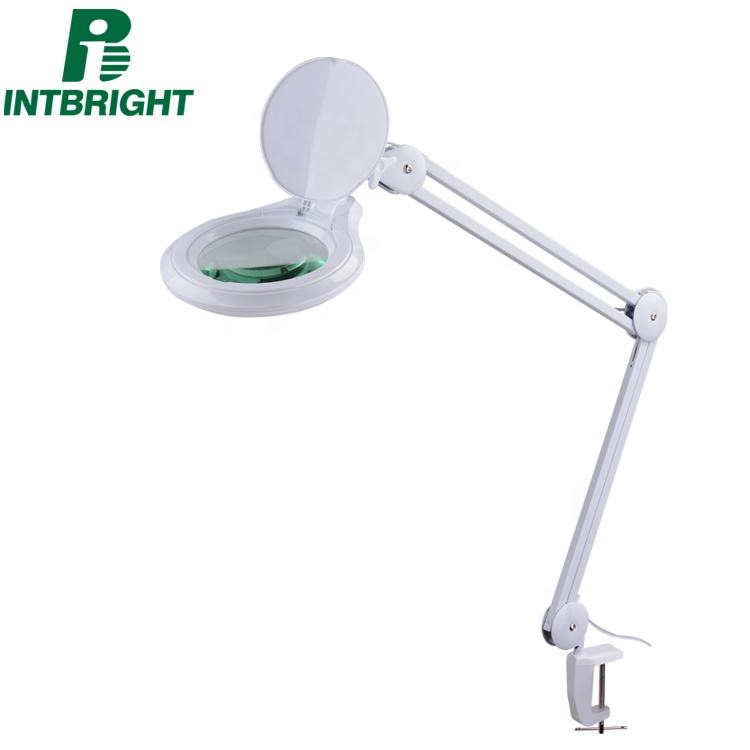 5-inch lens desktop led folding lamp magnifier with mounting bracket clamp facial magnifying lamp sewing tools and supplies