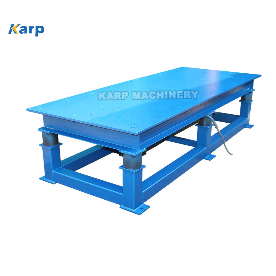 Bricks making vibrator table for steel and plastic moulds