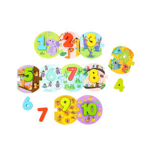 TOOKY TOY New Interesting Number Puzzle Learning Gift Set