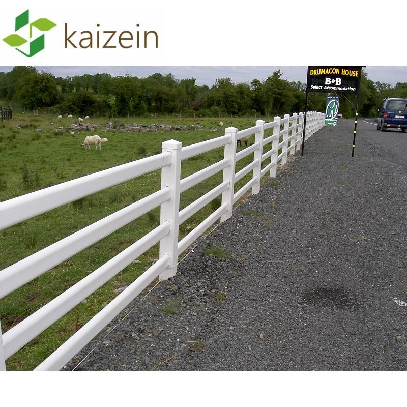 White Fencing Garden Horse Post And Rail Removable Pvc Fence