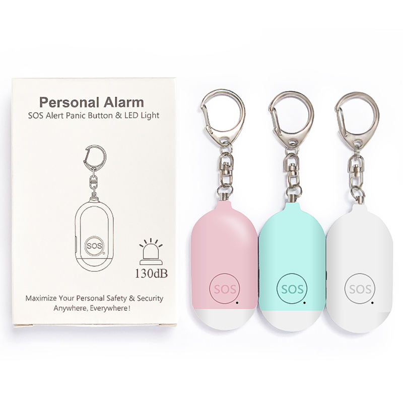 Wholesale OEM Personal Security Alarm Keychain Anti Attack Rape Emergency personal Alarm