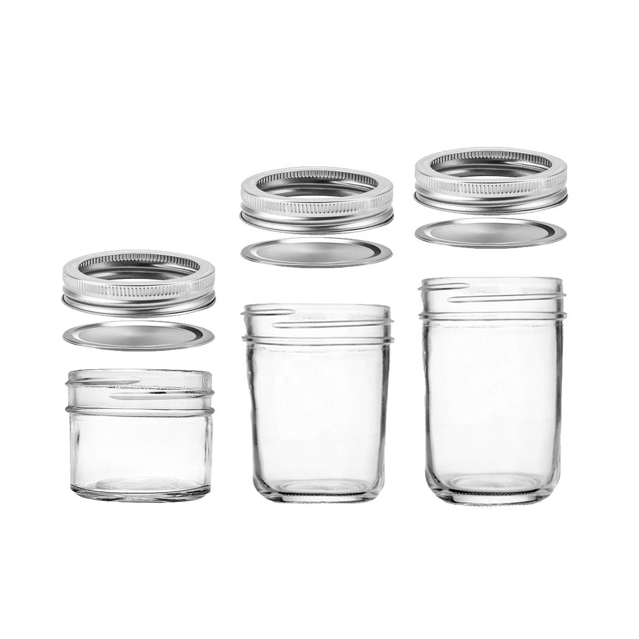 4 oz 6oz 8 oz 12oz 16 oz 20oz 700ml Wide Mouth Food Juice Boba Tea Glass Mason Jar