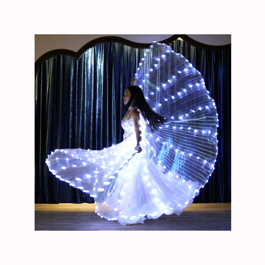 Popular 360 Degrees LED Light Colorful Isis Wings For Stage Performance Belly Dance Wear