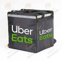 Uber Eats hot food bag thermal insulated carry waterproof commercial large food delivery pizza bag with customized logo brand