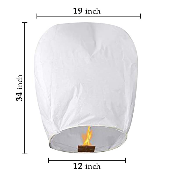 New Design Small Fireproof Biodegradable Sky Paper Lanterns Flying