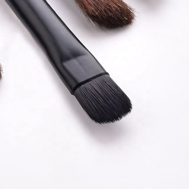 Customized Logo Luxury &Professional Private label 16-Hign-end Black Eye Makeup Brush Set Eyebrow Brush Concealment Brush