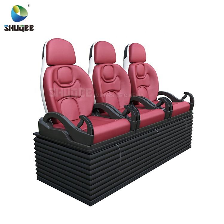 DIY Home Cinema 3 Seat Red Color Leather 4D Theater Motion Chair 4D Motion Cinema Seat