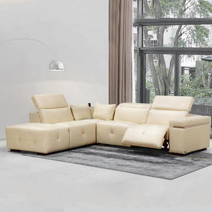 Music player living room 7 seater electric recliner lsectional sofa set