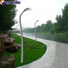 yaolong S shaped aluminum 4 meter yard lamp pole with stand