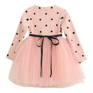 Bear Leader 2019 Brand Children Clothing Ball Gown Dot Print Kids Clothes Girl's Dresses