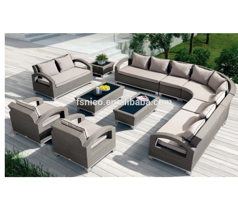lowes modern patio broyhill outdoor furniture extra large garden set rattan sofa