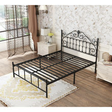 high quality metal double furniture european queen design size style metal bed double modern room iron bed
