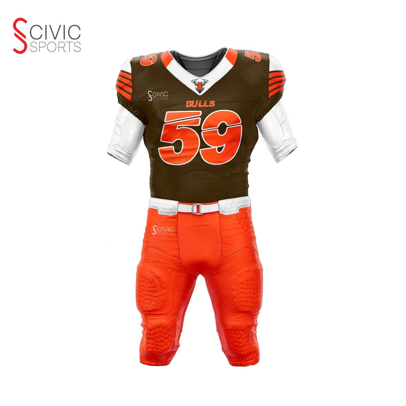 Stitched kids youth adult plain custom made American football practice jersey uniforms wear with pants