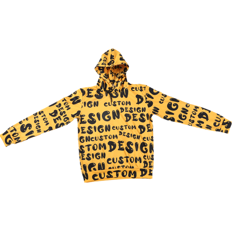 OEM Fashionable All Over Printed Custom Hoodies Heat Transfer Printed Sweatshirts Hoodies