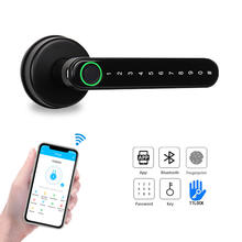 Bluetooth TTlock APP WiFi Security Door Lock Electronic Code Smart Fingerprint Handle Lock