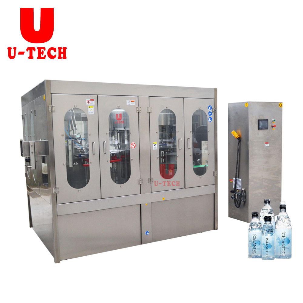 Zhangjiagang Automatic Small Bottle Production Line Drinking Mineral Water Filling Capping Packaging Machine