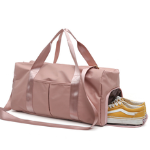 new design custom pink outdoor sport gym bag for ladies waterproof bag
