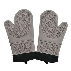 Durable Kitchen Five Fingers Silicone Oven Heat Gloves Microwave Oven Gloves