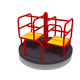 Plastic Playground Zone Games Outdoor 2016 New Merry Go Round Play Zone Swivel Chair Outdoor Children Games Playground for Sale with High Quality
