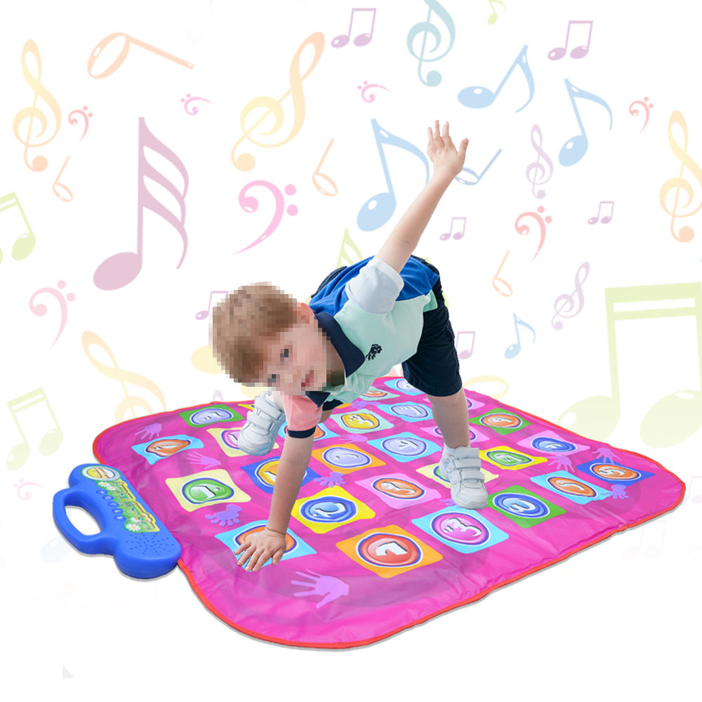 Rubber weight activated led light wireless double electronic musical carpet pc floor tv game family kids dance pad mats ELB-MA3/