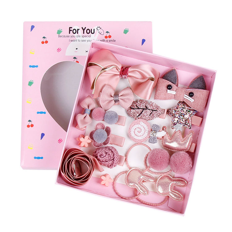 18pcs set kids baby head accessories hair clip new born baby shower party gift