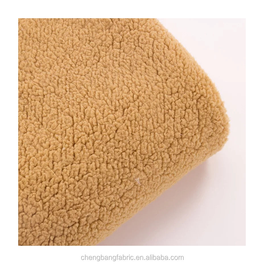 Chengbang Tricot Fabrication 100% polyester teint solide micro sherpa épais polaire tissu