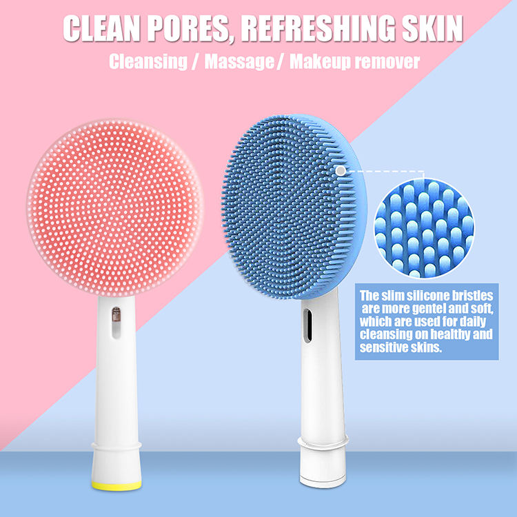 Tooth Brush Electric Heads Facial Brush Silicone Rotating Head For OralB Electric Toothbrush Handle