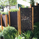 Metal Garden Fence Home Decor Stainless Steel Rust Corten Steel Grille Metal Garden Fence For Decoration