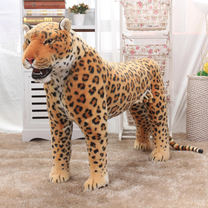 wholesale leopard plush toys world animal model doll photography home simulation jaguars decorative furnishing articles