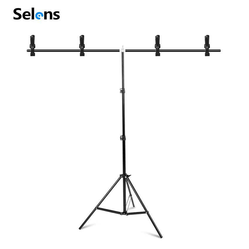 Selens 150x200cm T Backdrop Stand Metal PVC Background Photography Support System