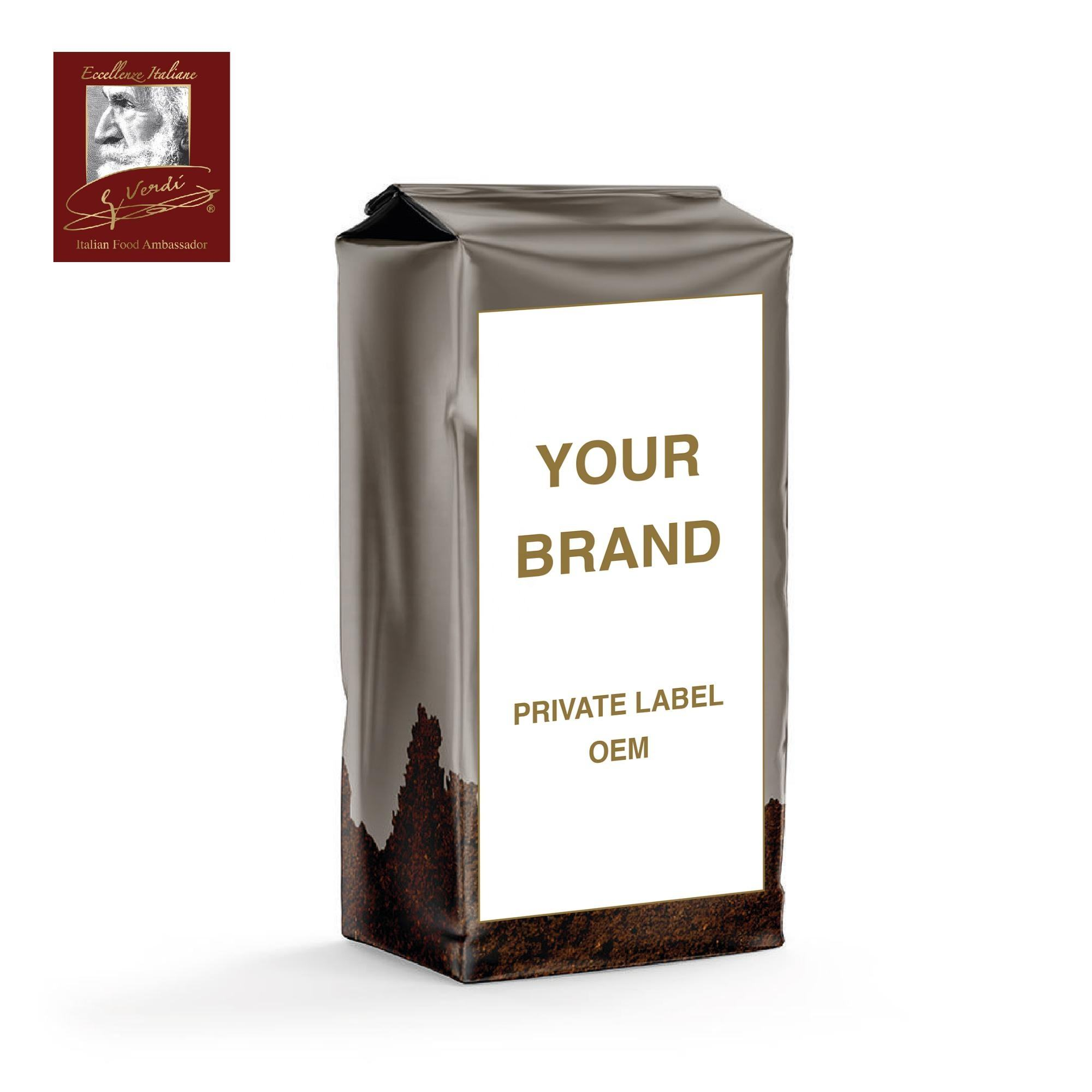 250g Ground Coffee Bag OEM Private Label Ground Moka Coffee