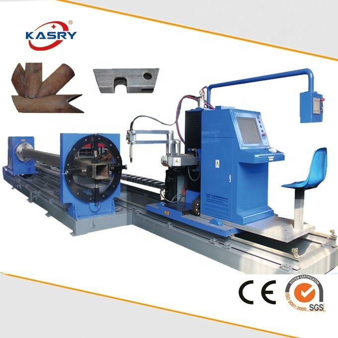 8 axes Square Metal Tube Plasma Flame Cutting Beveling Machine