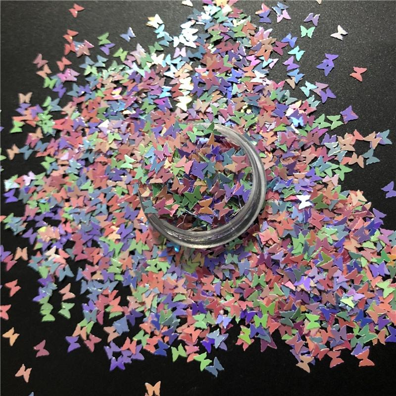 Poly Shape Sequin Variety Fluorescent Pearl Colors Butterfly Mix Glitter for Tumbler Decoration