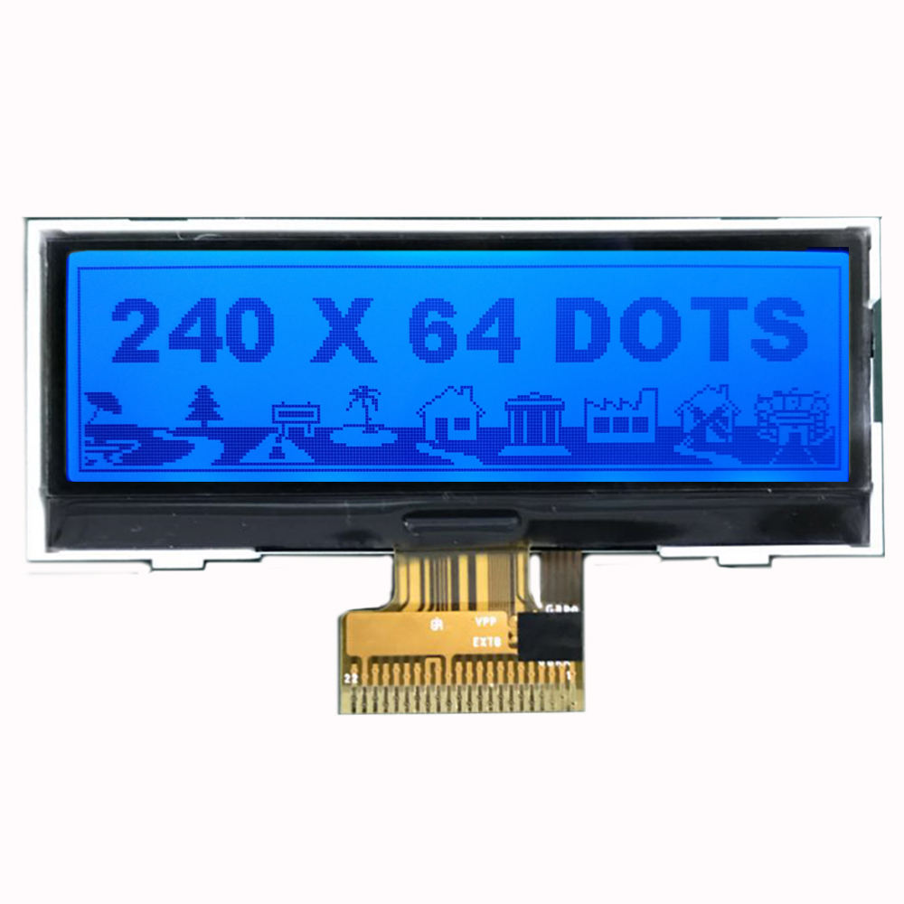 shenzhen lcd manufacturer 3.0inch lcd with RGB LED backlight 240x64dots matrix display cog module