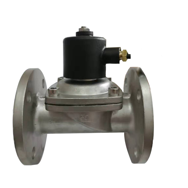 Stainless steel flange high temperature water safety control solenoid valve