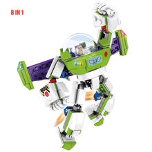 Brick Toy Story  Cartoon Woody Jessie Buzz Light year 4 in 1 Figure Building Blocks Children Toys SY6698