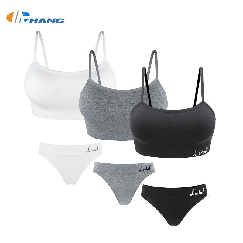 Seamless [ Bra ] Womans Bra Set 2020 Newest Fashion Style Sports Yoga Set Women Seamless Sexy Thong Bra Panty Sets