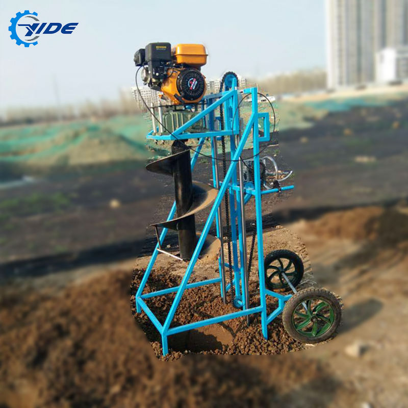 Custom manual 7.5HP small shelf earth auger drill digging machine