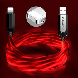 Factory high-volume night lighting cable de iphone multitudinous low price free shipping led charger cable for apple iphone