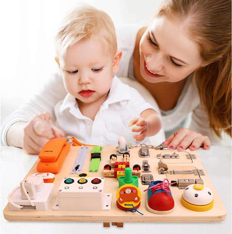 Baby Busy Board Montessori Toy Essential Educational Sensory Teaching Board For Toddler Intelligence Development Educational Toy